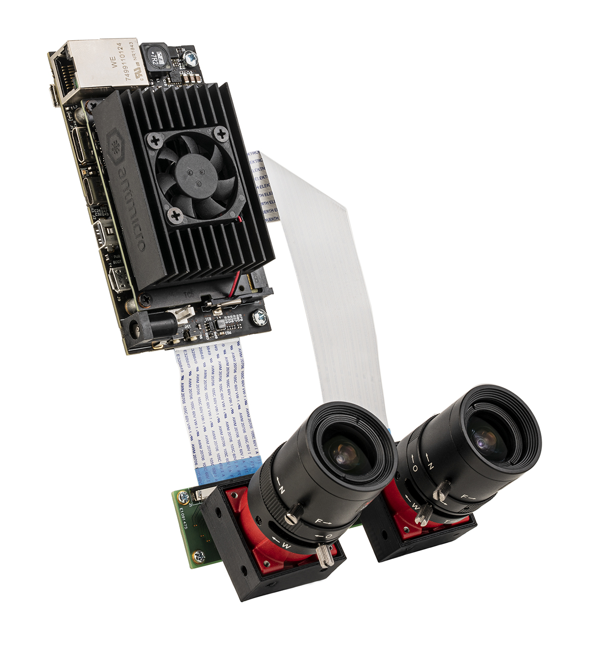 Nvidia Jetson Nano on Antmicro's baseboard with Allied Vision's Alvium cameras