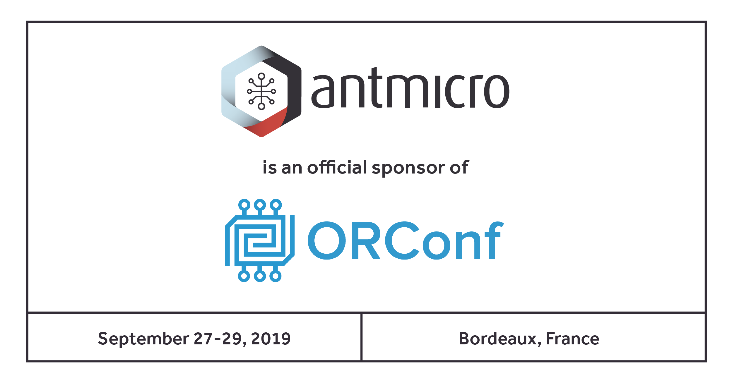 Antmicro sponsors ORConf 2019