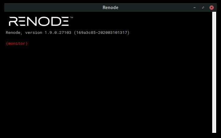 Renode Monitor CLI