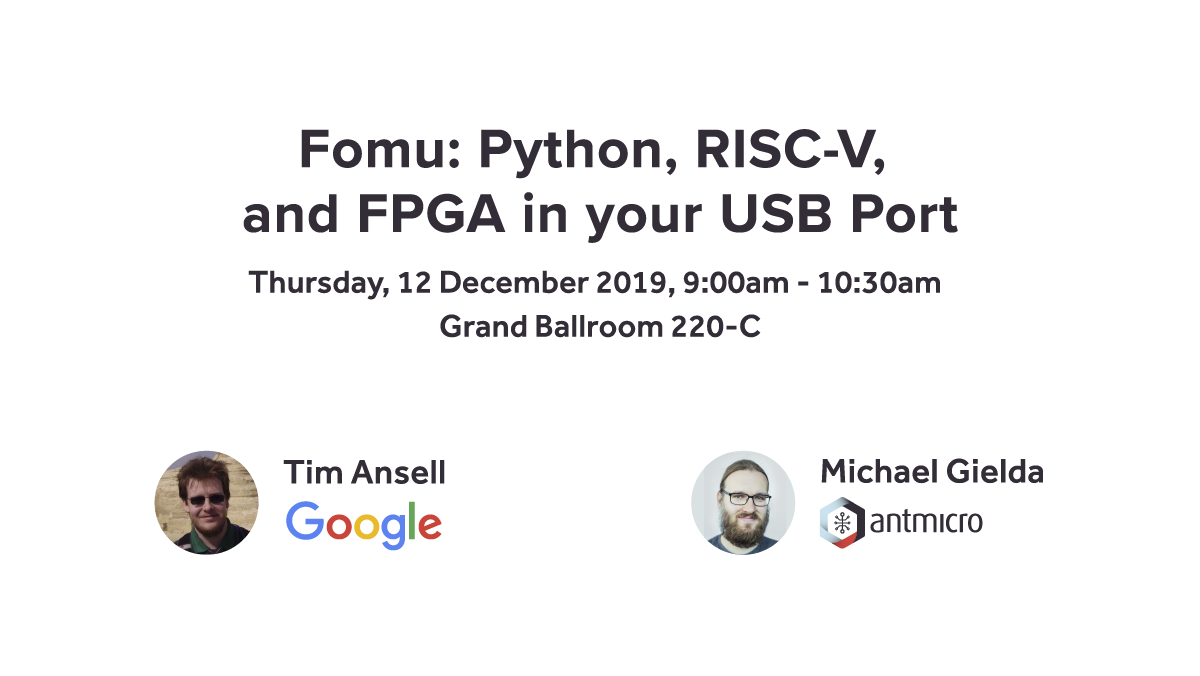 Michael Gielda's talk about Fomu details