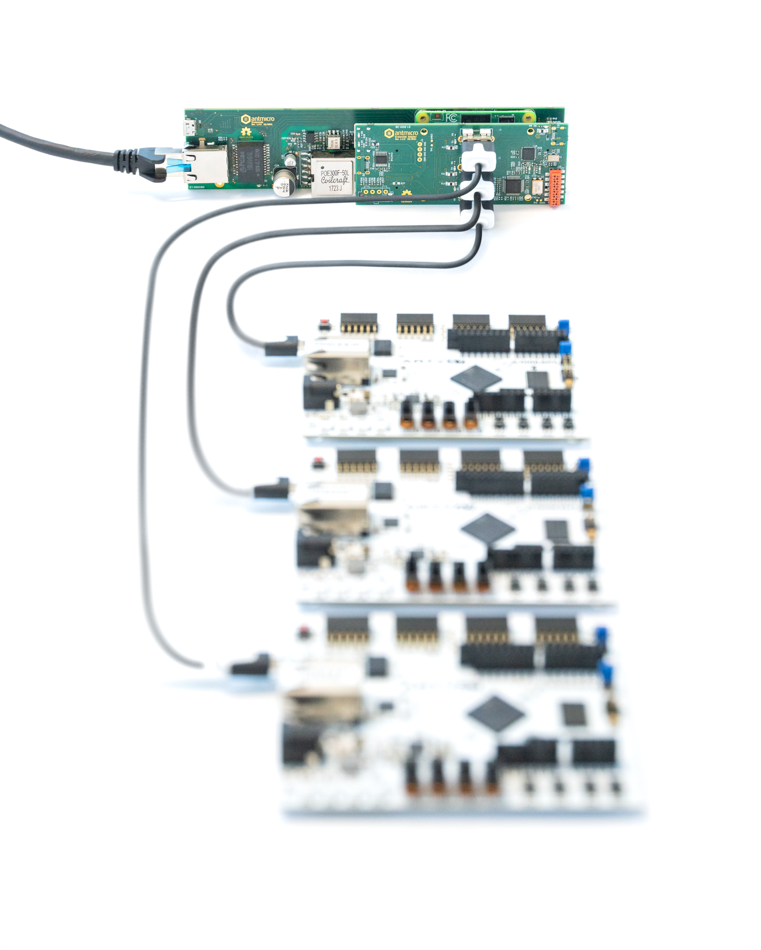 Antmicro Scalenode platform with Artix-7 boards connected