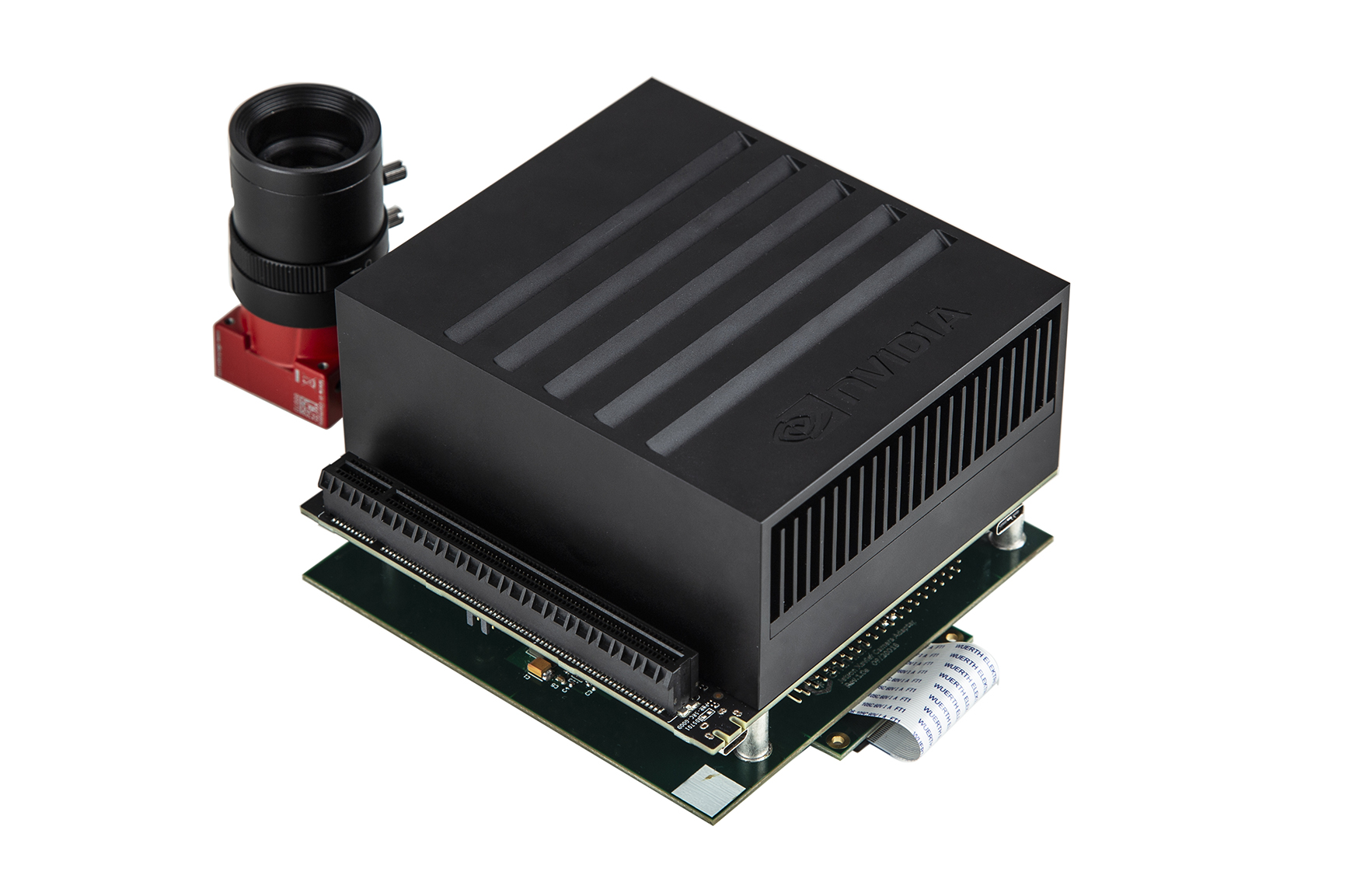 Nvidia Jetson Xavier on Antmicro's baseboard with Allied Vision's Alvium camera